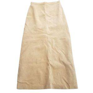 Brandon Thomas Beautiful Suede Maxi Skirt 6